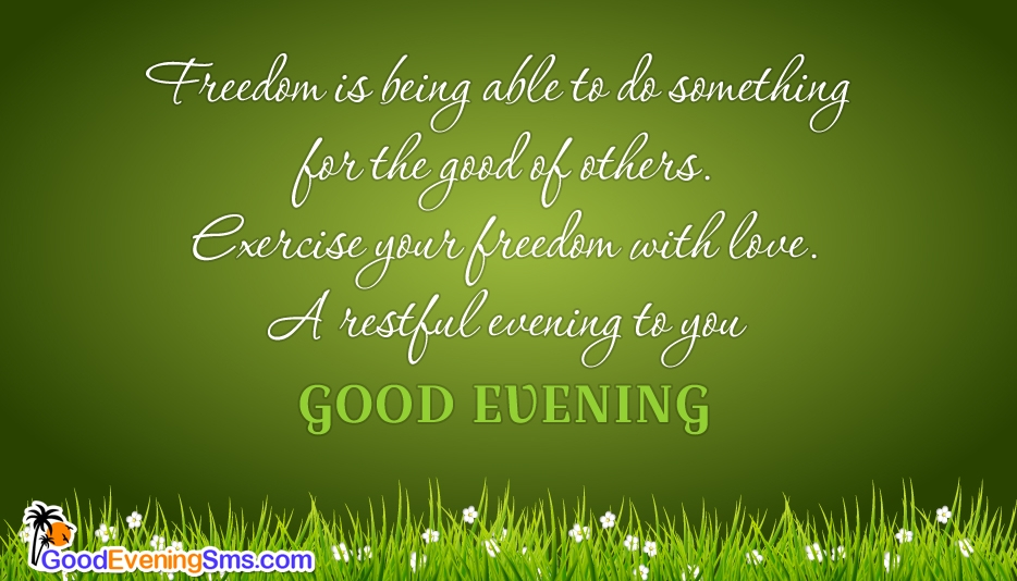 A Restful Evening to You @ Goodeveningsms.com