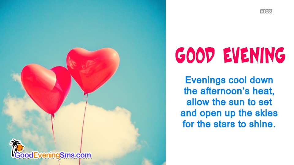 Beautiful Good Evening Message