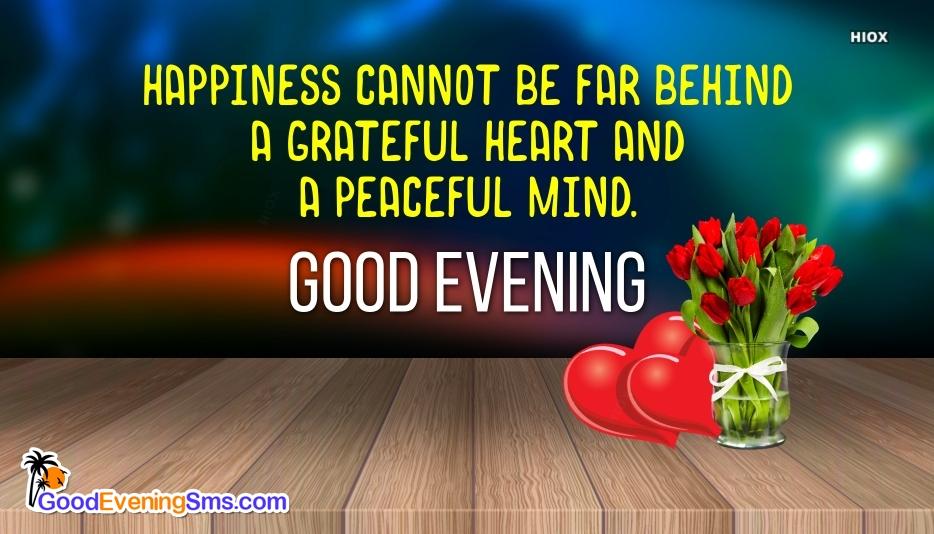 Good Evening SMS for Grateful