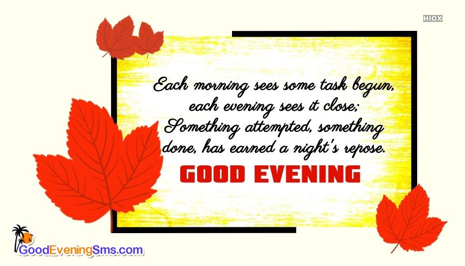 Best Good Evening Quotes