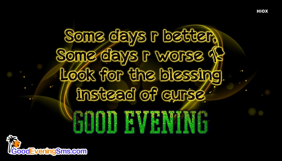 Good Evening SMS for Blessing Quotes