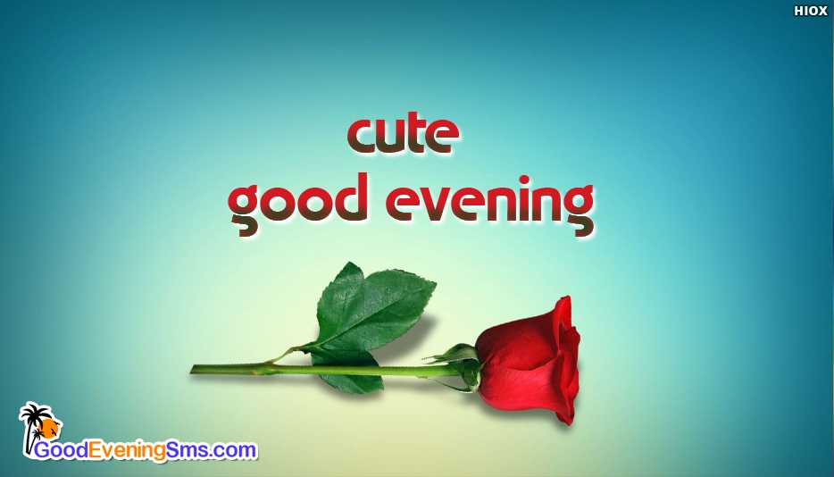 Cute Good Evening - Cute Good Evening Images