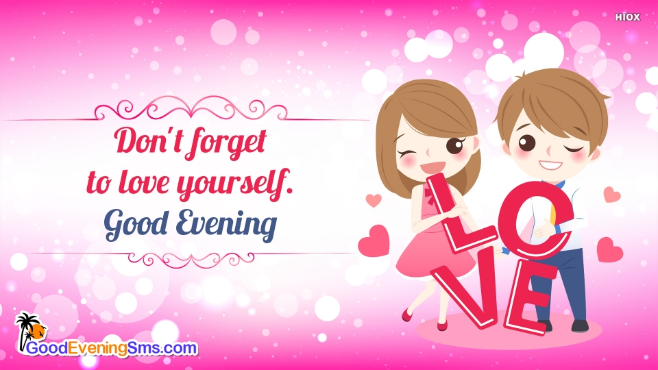 Good Evening SMS for Love Yourself