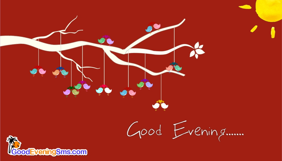 Good Evening Sms with Birds