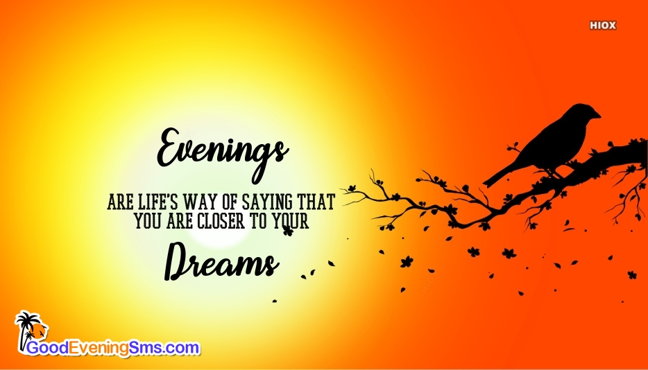Good Evening SMS for Dreams