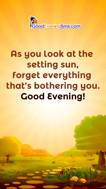 As You Look At The Setting Sun, Forget Everything That's Bothering You. Good Evening!