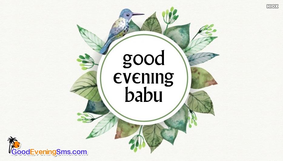Good Evening SMS for Babu