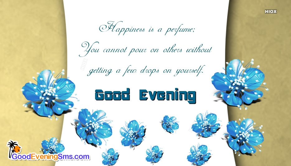 Good Evening Images With Blue Flowers