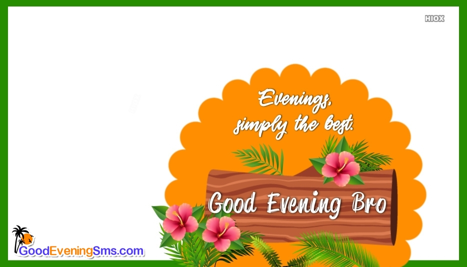 Good Evening SMS for Floral