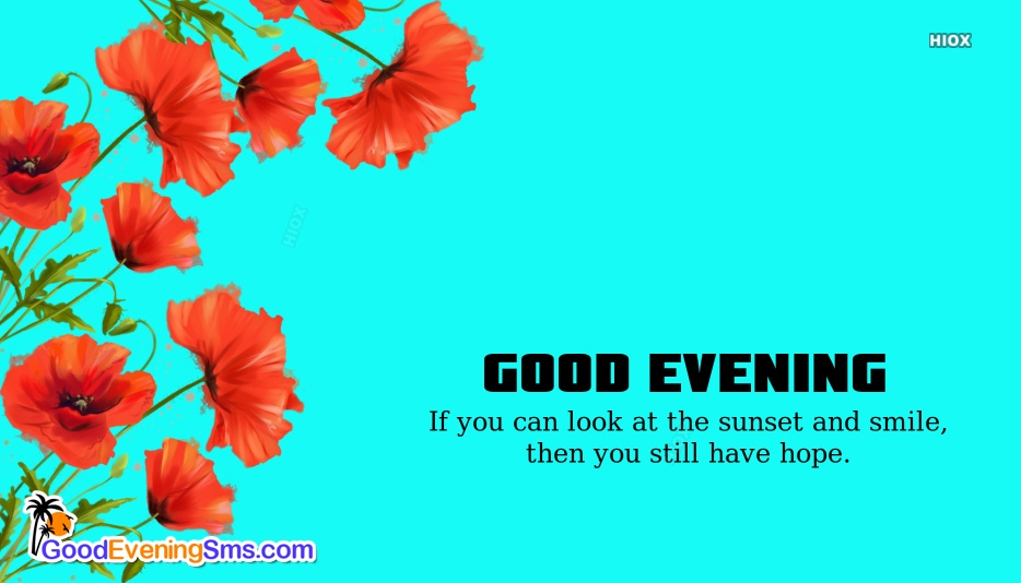 Good Evening English Images
