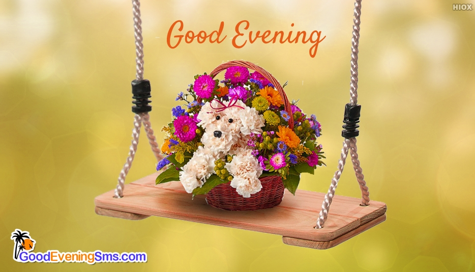 Good Evening SMS Images With Teddy Bear