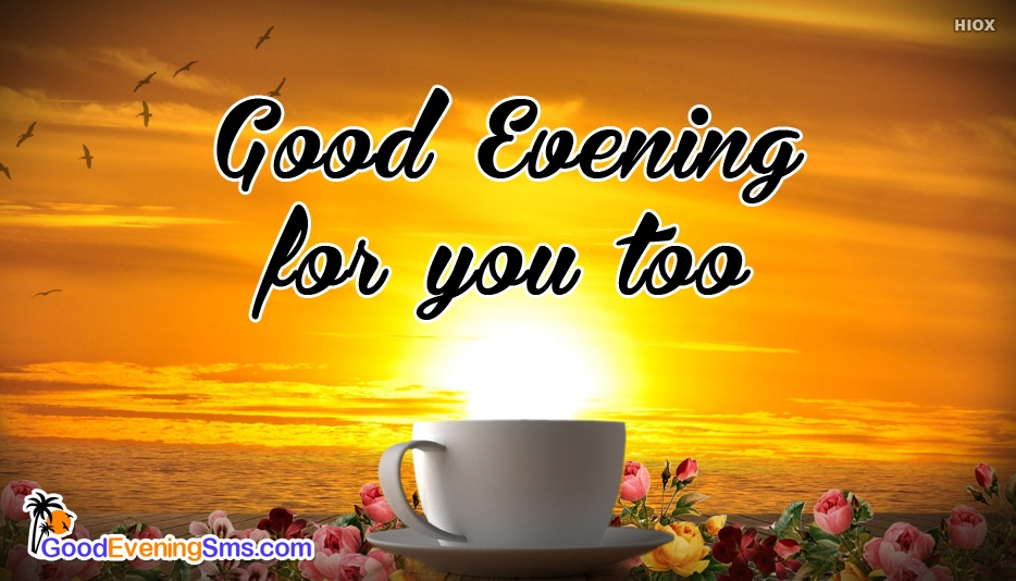Good Evening For You Too - Good Evening SMS for Friend