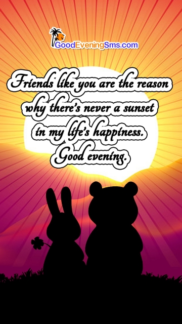 Friends Like You Are The Reason Why There's Never A Sunset In My Life's Happiness.