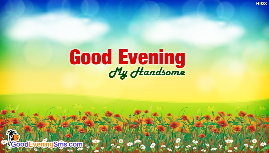 Good Evening SMS for Handsome