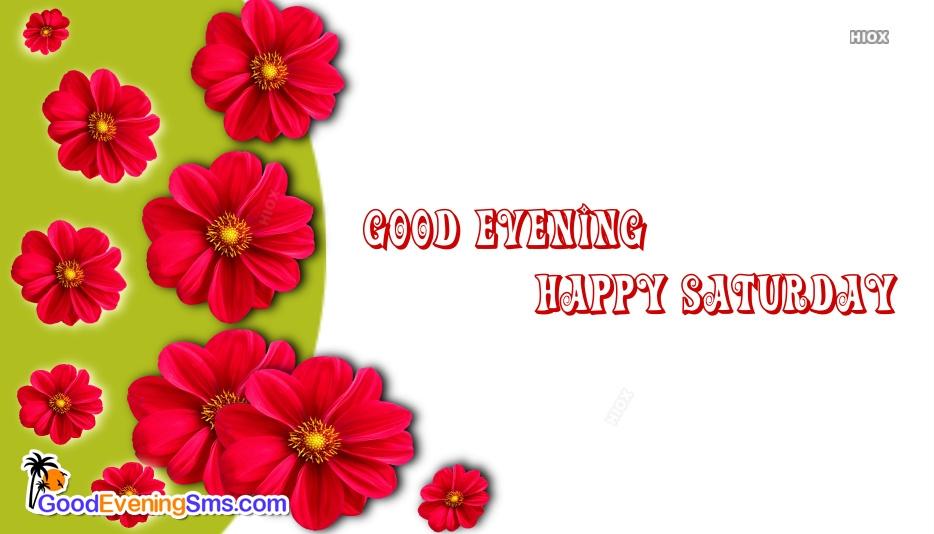 Good Evening. Happy Saturday