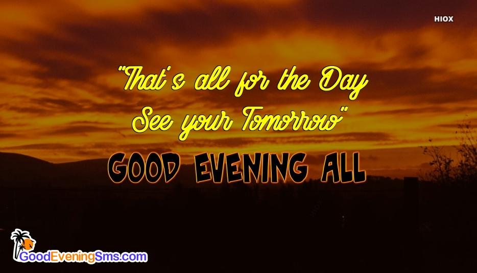 Hd Good Evening SMS