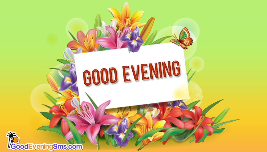 Good Evening Image With Flowers GoodEveningSMS