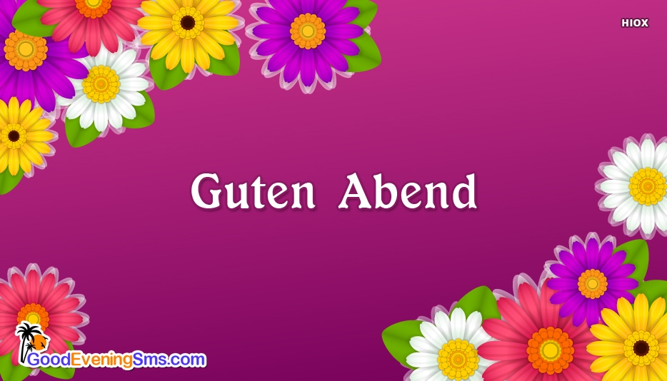 Good Evening SMS for German