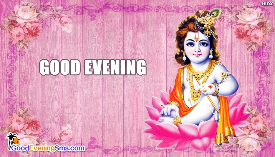 Good Evening Krishna - Good Evening SMS for Wallpaper