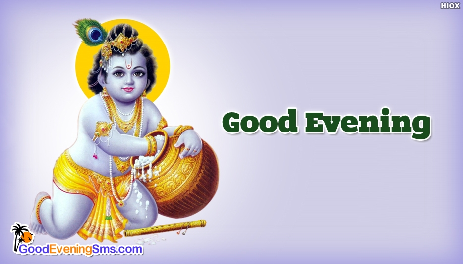 Good Evening Lord Krishna Image