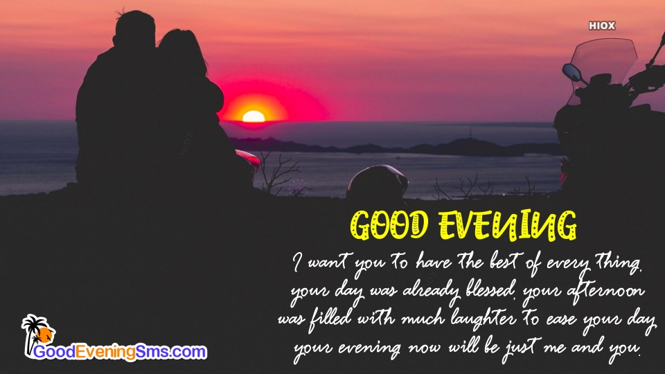 Good Evening SMS for Good Evening Love