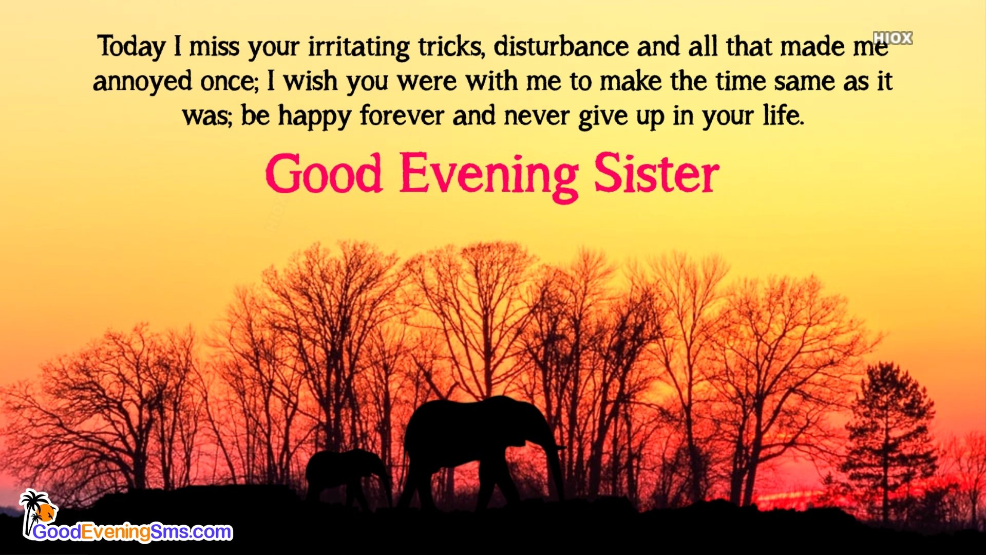 Good Evening Message For Sister