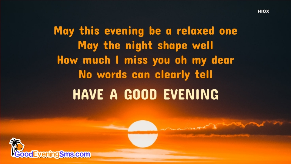 Good Evening SMS for Natural Background