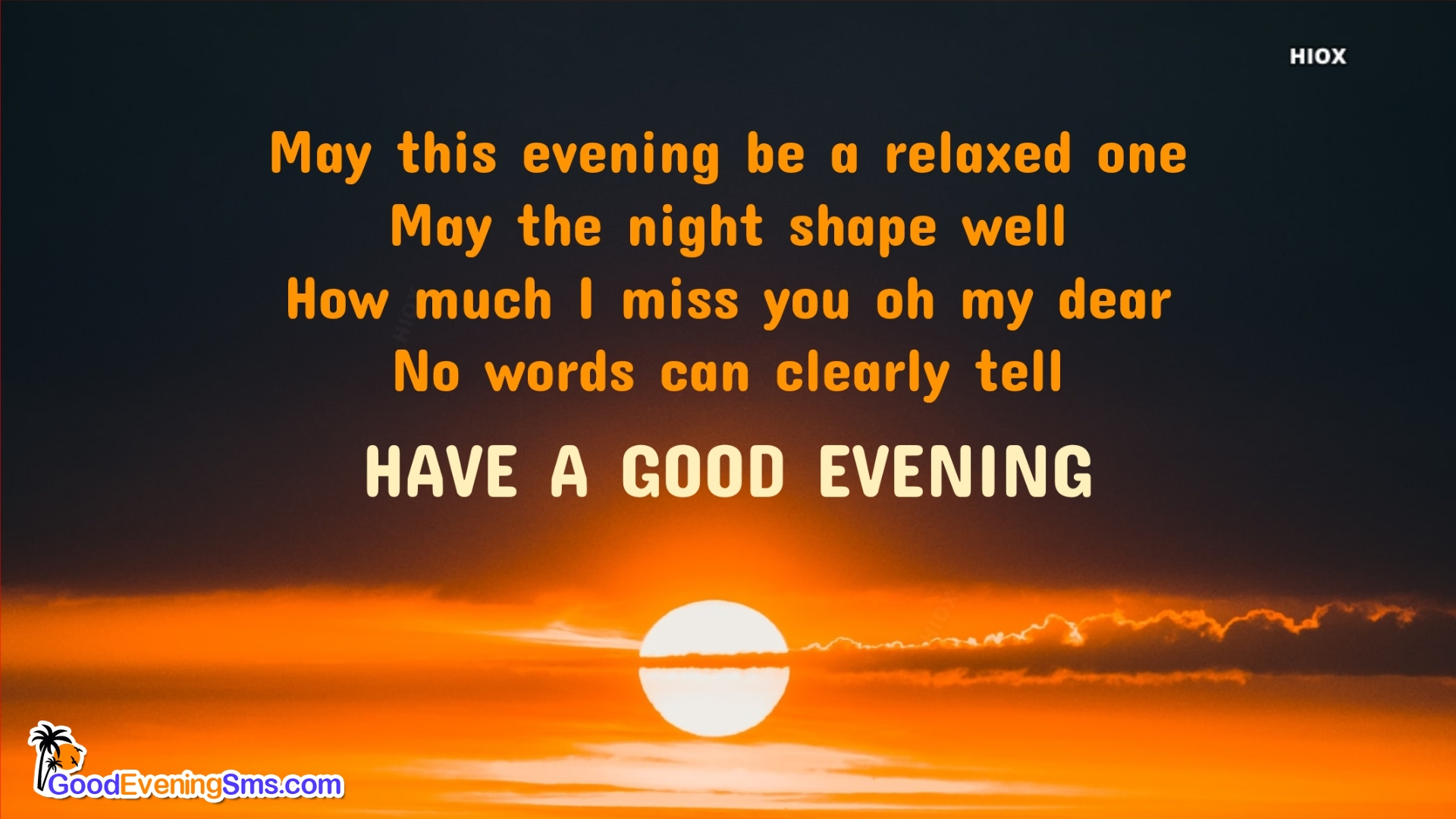 Good Evening Hd Image with Message