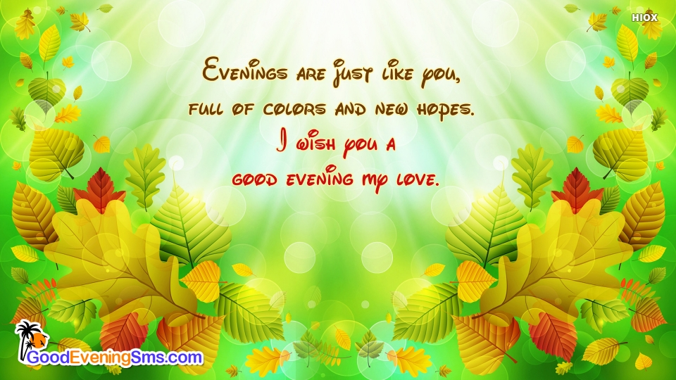 Good Evening SMS for Wishes In English