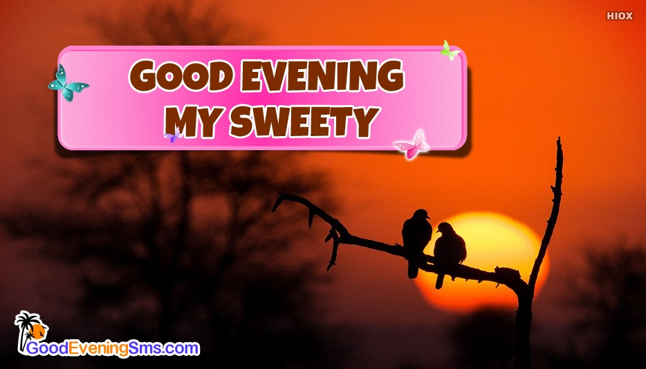 Good Evening My Sweety - Good Evening SMS for Sweetheart