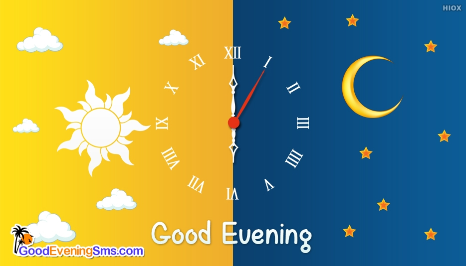 Good Evening SMS for Clock