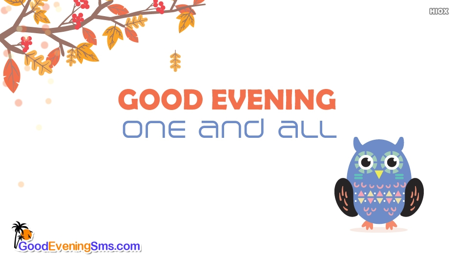 Good Evening SMS for Fb Friends