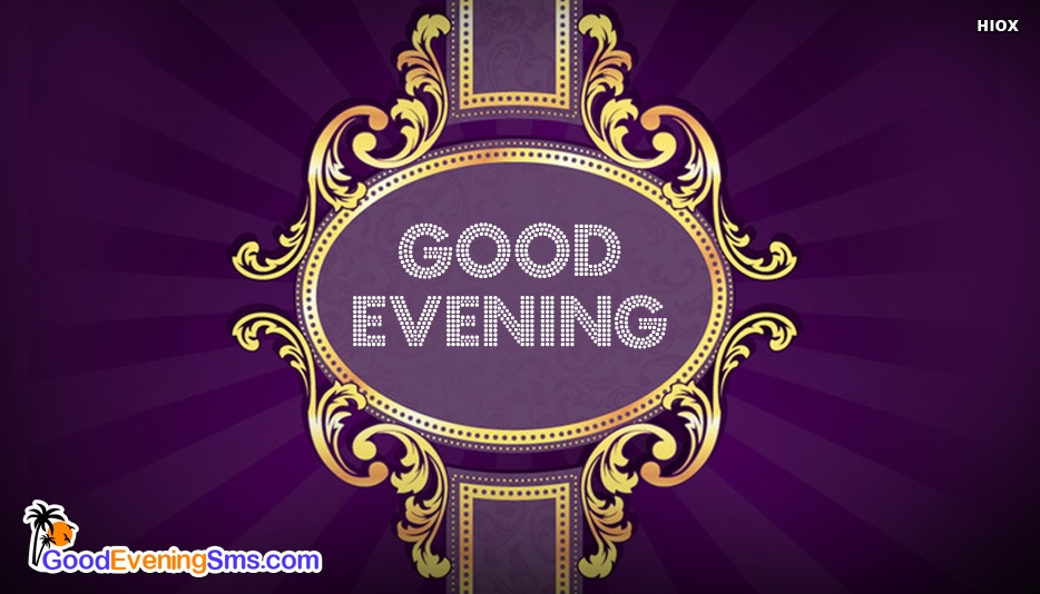 Good Evening Purple - Good Evening SMS for Facebook