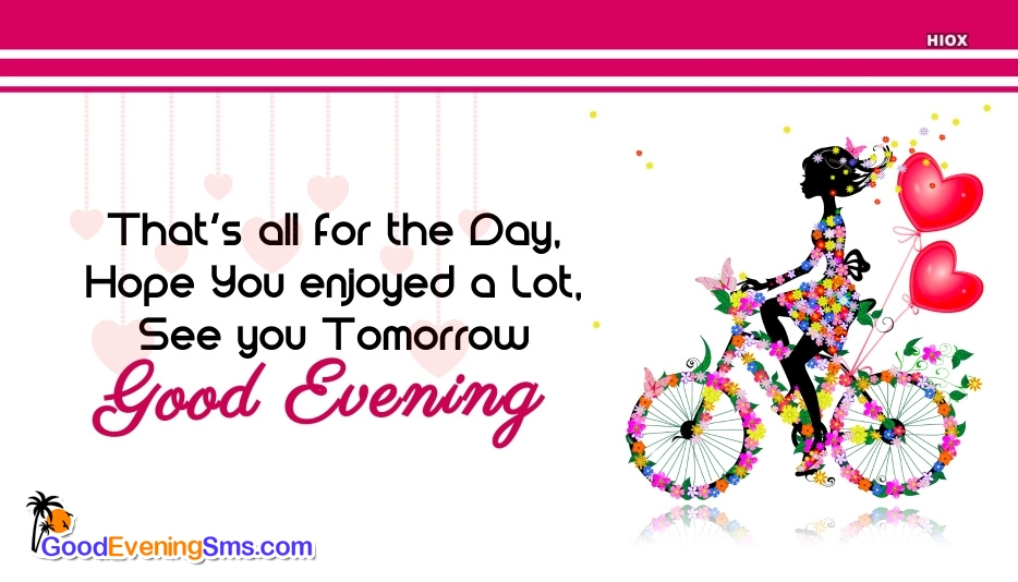 Good Evening SMS for Sayings