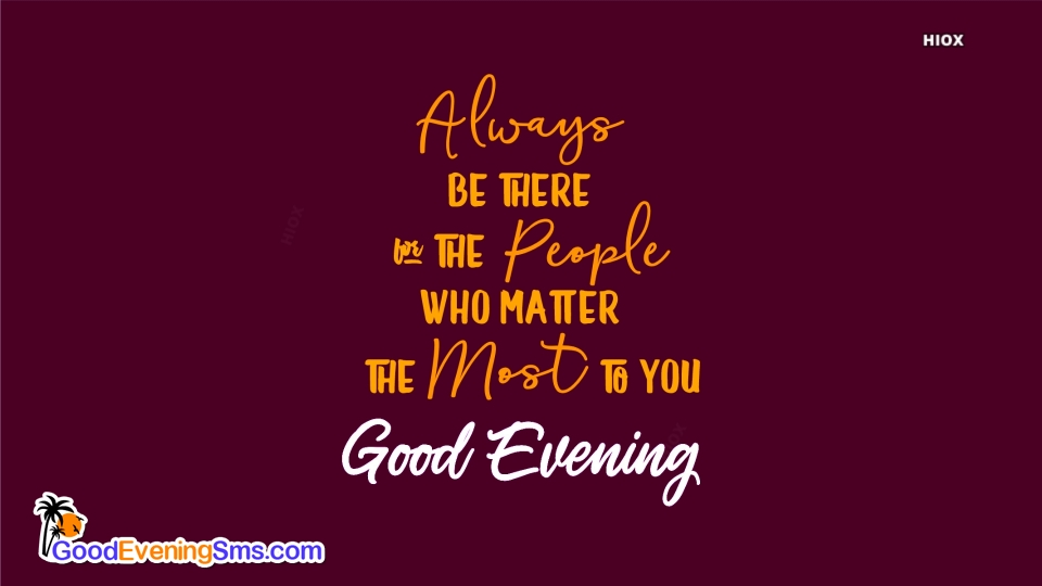 Good Evening SMS for Ecards