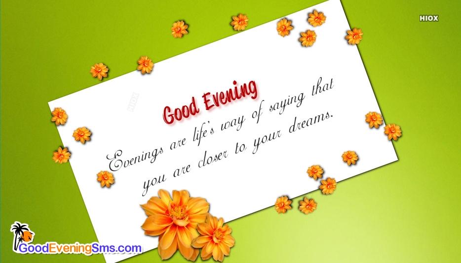 Good Evening Quotes Love
