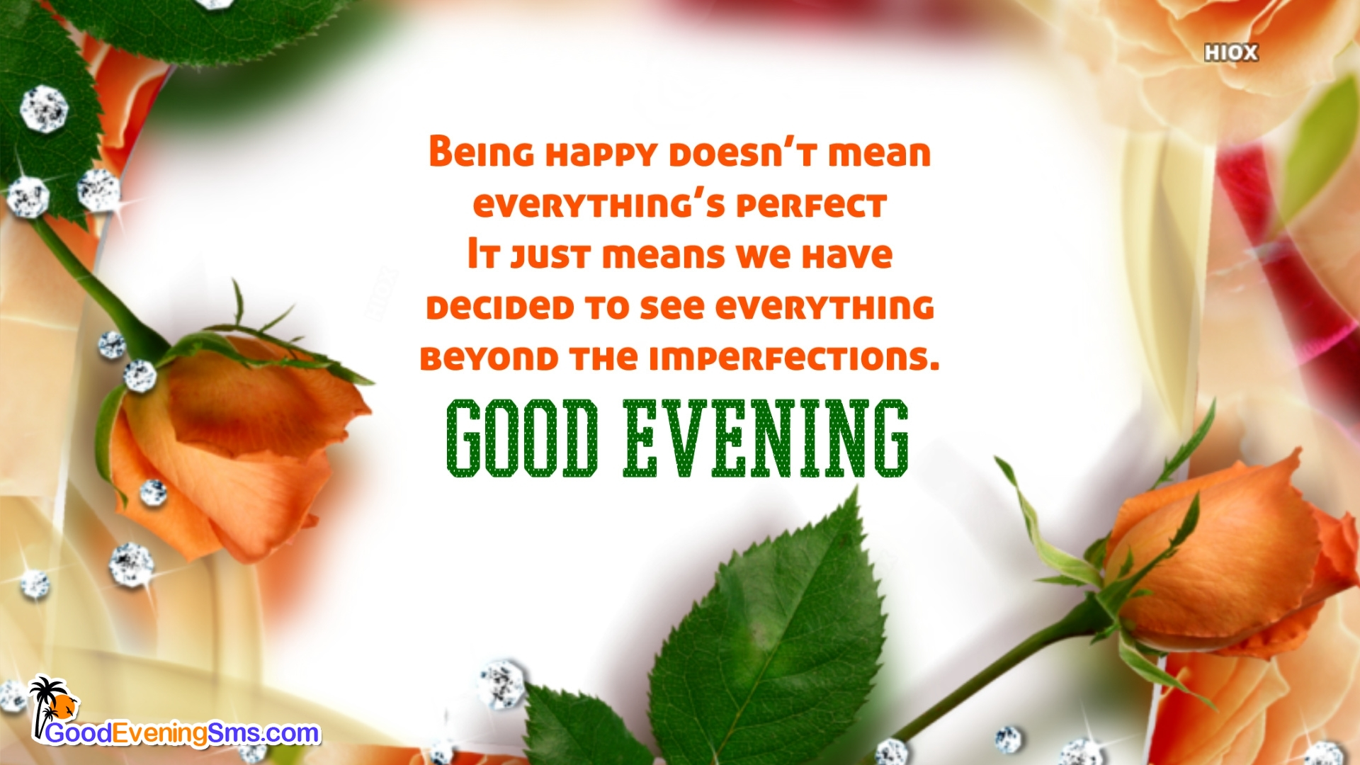 Good Evening Quotes With Flowers