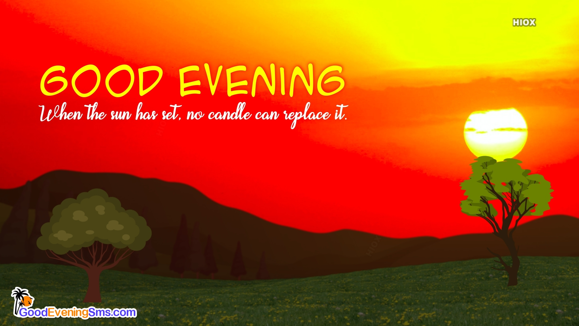 Good Evening Quotes With Sunset