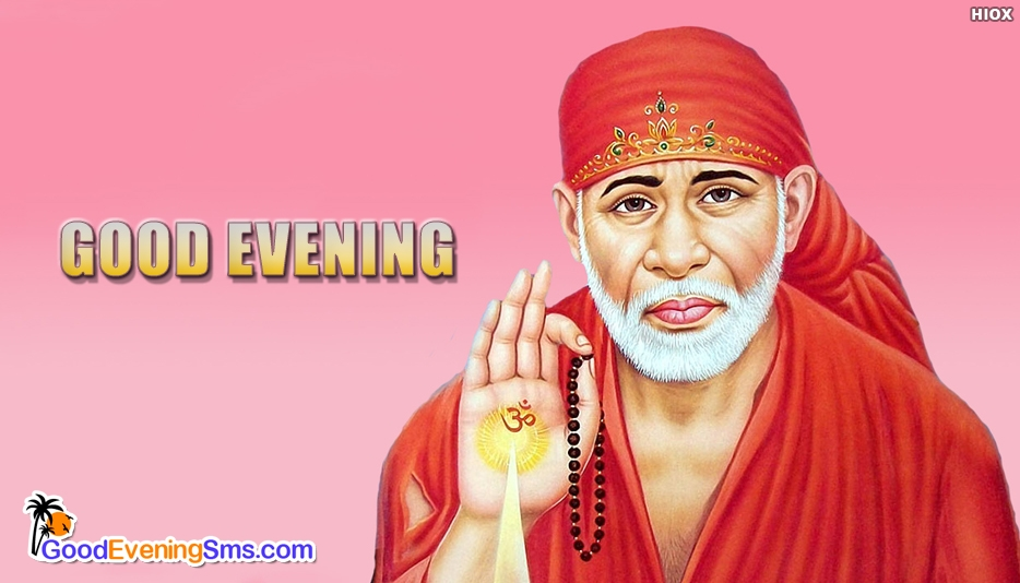 Good Evening Message with Sai Baba Image