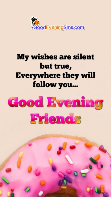 Good Evening Friends Wishes with Snacks