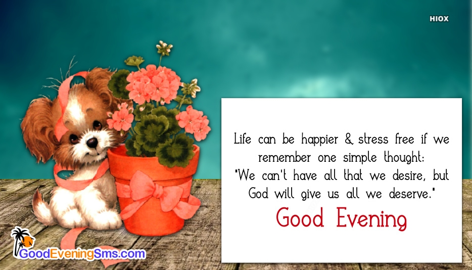 Good Evening Sweet Quotes