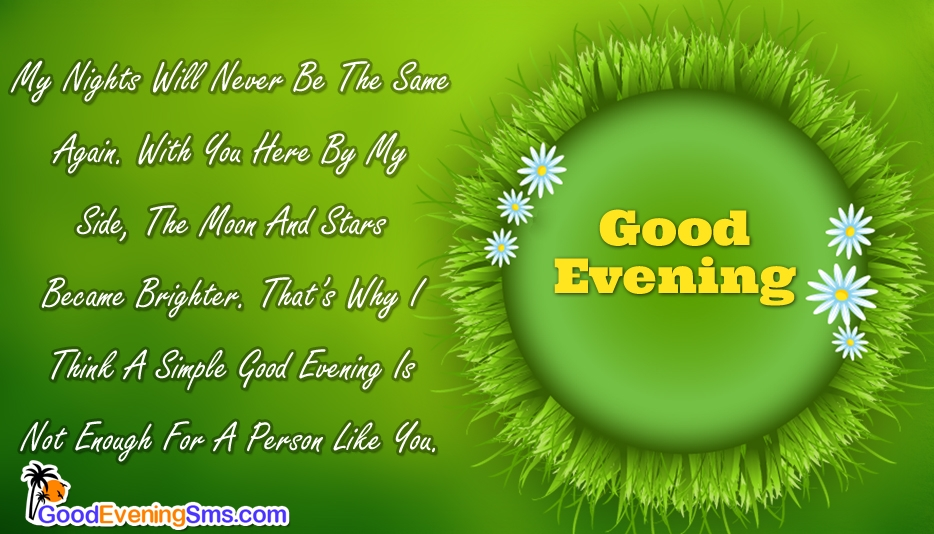 Good Evening SMS for Her