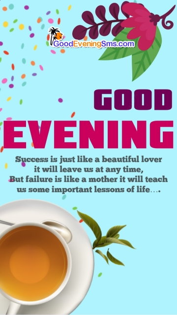 Good Evening Quotes with Tea
