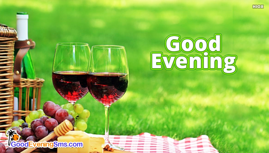 Good Evening Wine - Good Evening SMS for Friends