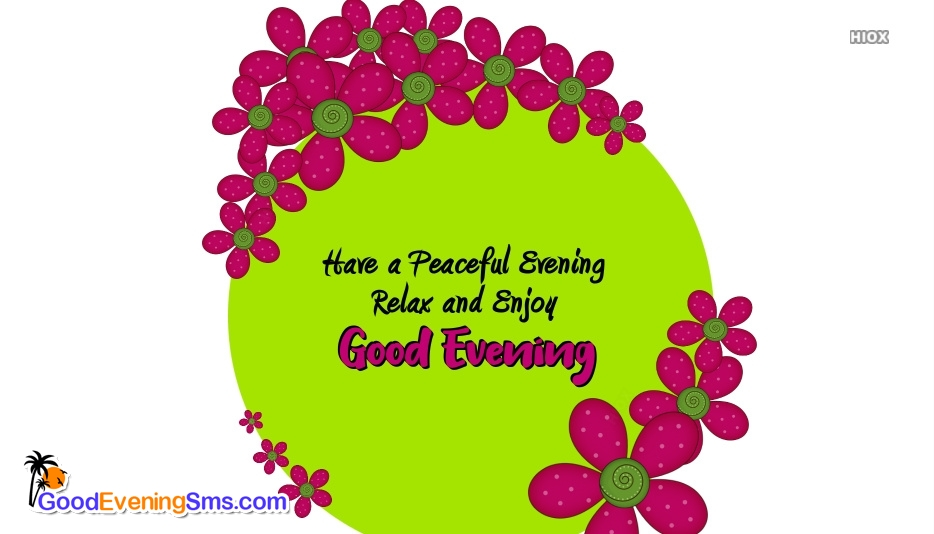 Good Evening Wishes Messages