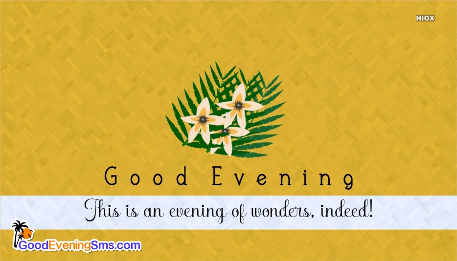 Good Evening SMS for Sms In English