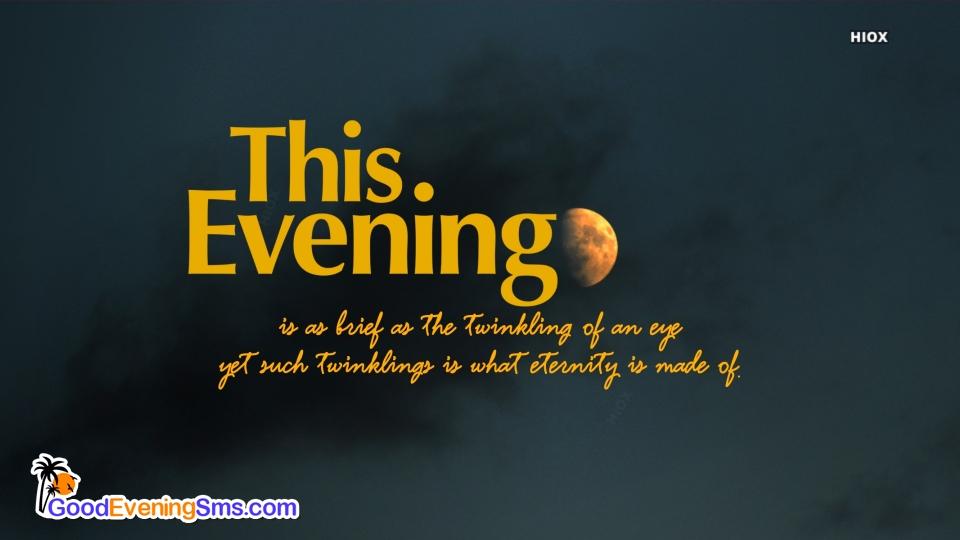 Good Evening SMS for Dark Background