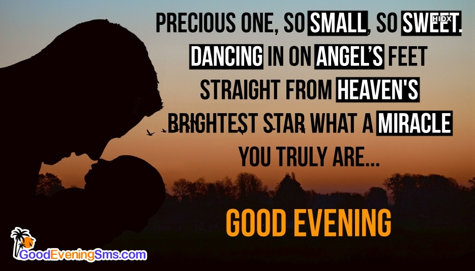 Good Evening SMS for Baby Quotes