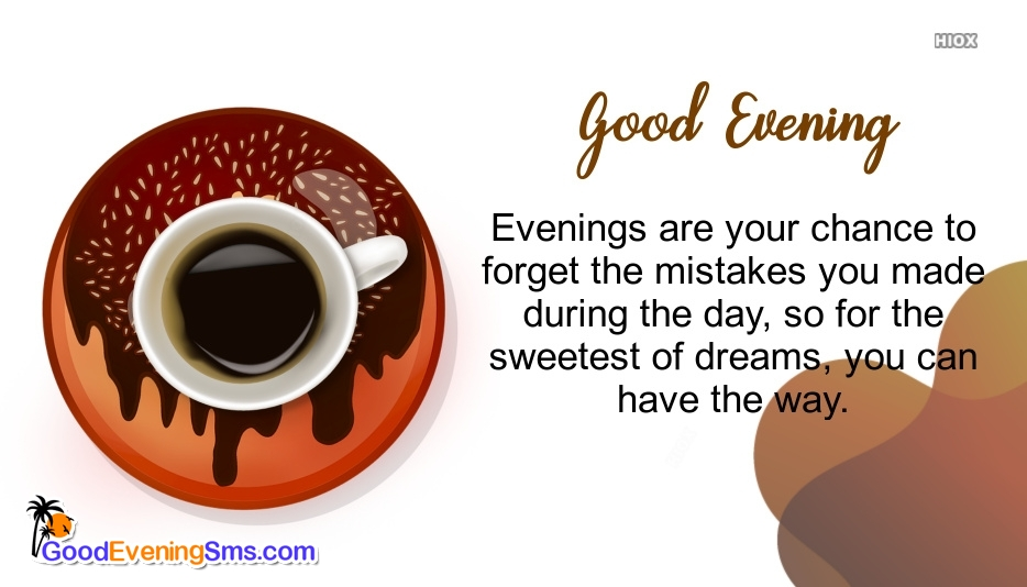 Good Evening Wishes With Coffee