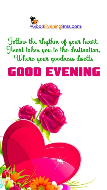 Good Evening Quotes With Rose